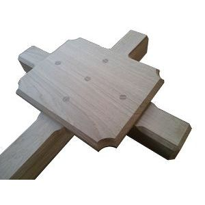 Deluxe ashes marker cross (English oak) Style No.1