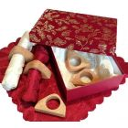 Rustic Napkin Holder Set of 4 with box