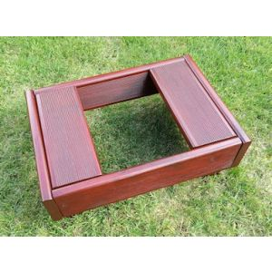 Deluxe Pet Grave and Garden Tidy (Mahogany) - Small Pet & Ashes
