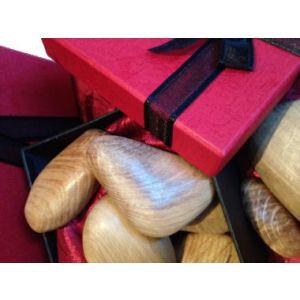 Wooden stones Presentation Box Set of 5 (Light Oak)